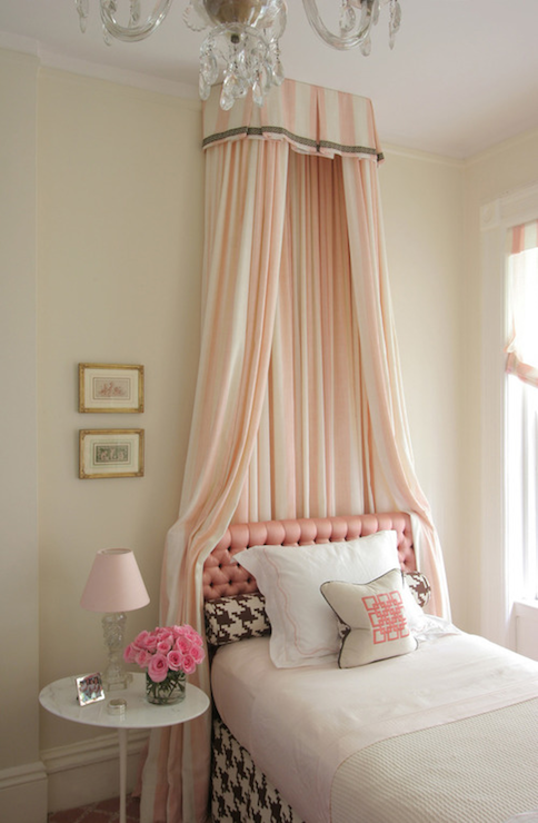 Pink Bed Canopy, Transitional, girl's room, Philip Gorrivan Design