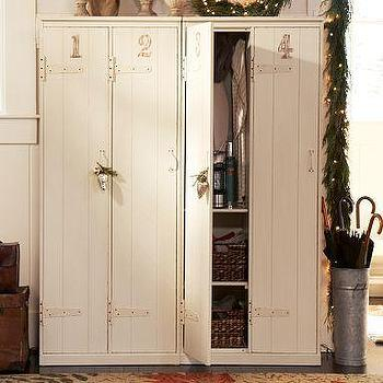 Vintage Lockers, Pottery Barn