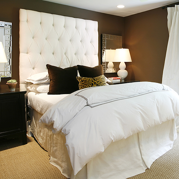 Velvet Tufted Headboard, Contemporary, bedroom, Ashley Goforth Design