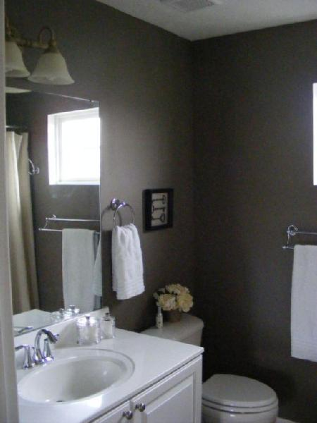 Bathroom Decor With Grey Walls : Dark gray taupe paint