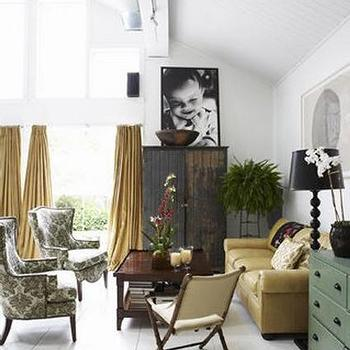 Gold Curtains, Eclectic, living room, My Home Ideas