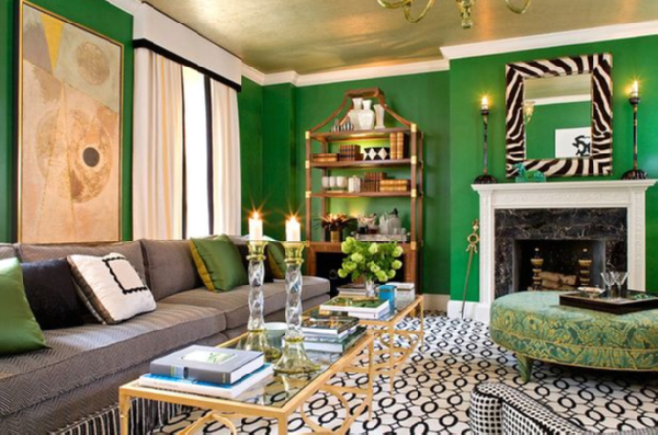 Emerald Green Living Room Design Ideas