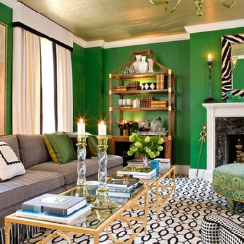 Emerald Green Walls Design Ideas