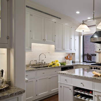 White Kitchen Cabinets With Gray Granite Countertops gray island with granite countertops design ideas
