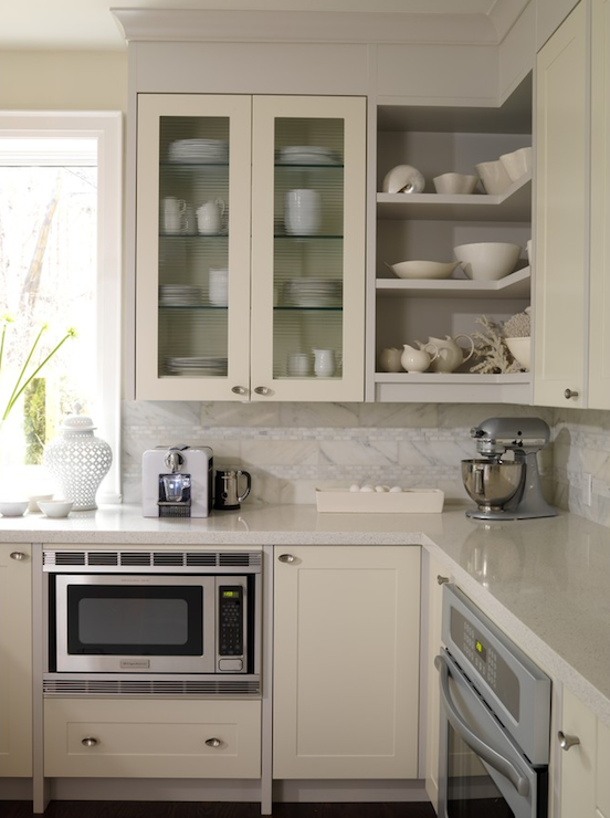 Cream cabinets design ideas for Off the shelf kitchen units