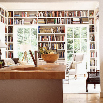 Built In Bookshelves, Transitional, den/library/office, Mary Evelyn Interiors