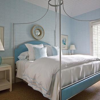 Turquoise Headboard, Traditional, bedroom, Phoebe Howard