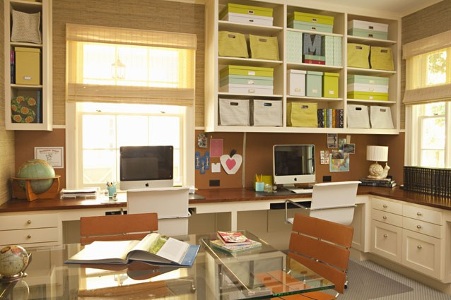 Dual Desks  Traditional