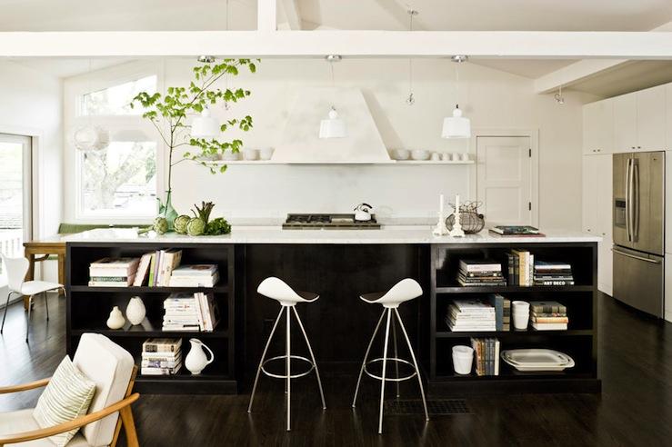 kitchen island bookshelf - traditional - kitchen - mullet cabinets