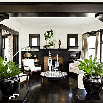 Dark Brown Wood Moldings, Transitional, living room, Jessica Helgerson Interior Design