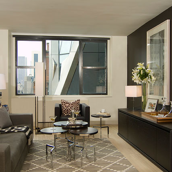 Gray Lattice Rug, Contemporary, living room, Haus Interior