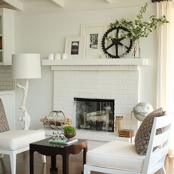 White Brick Fireplace Design Ideas - White brick interiors