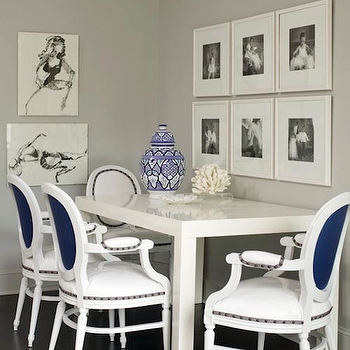 Gray Walls, Contemporary, dining room, Sherwin Williams Light French Gray, Bear Hill Interiors