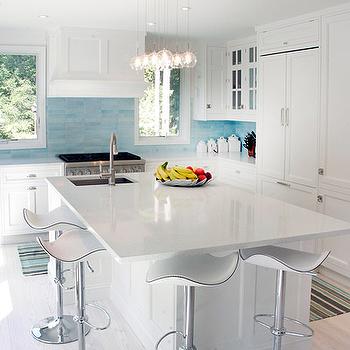 Kitchen with turquoise backsplash design ideas