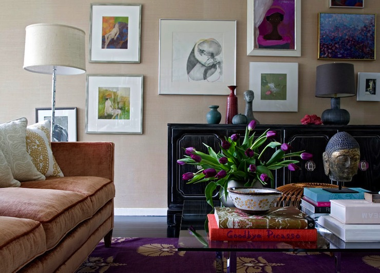 Aubergine Living Room Design Ideas