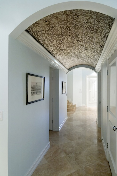 Wallpapered Ceiling, Eclectic, entrance/foyer