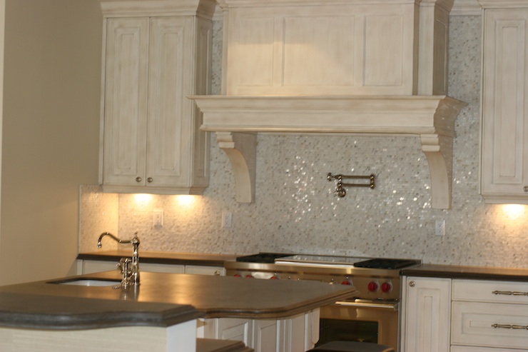 Limestone Countertops Transitional Kitchen