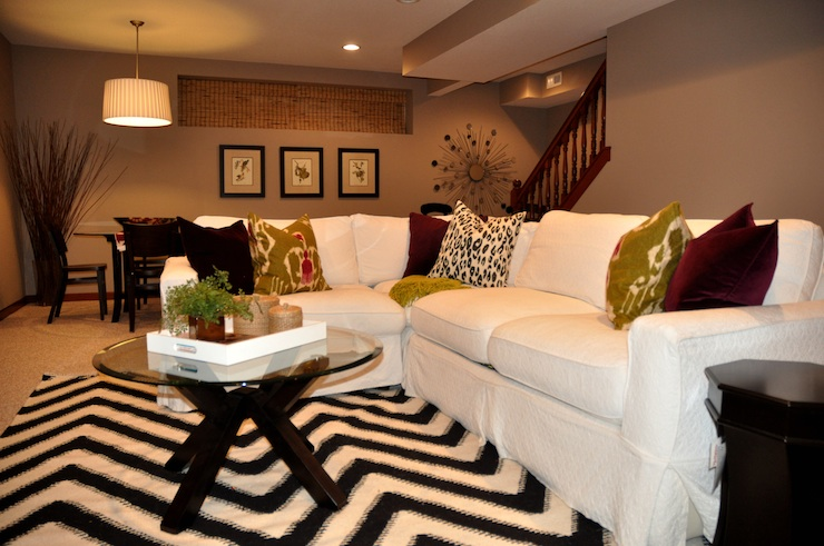 White Slipcovered Sectional