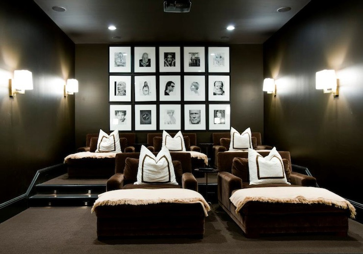 Photo walls contemporary media room melanie turner for House plans with media room