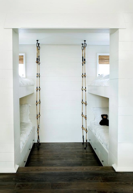 Built In Bunk Beds, Contemporary, boy's room, Melanie Turner Interiors