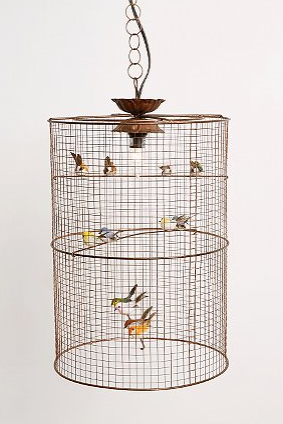 Birdcage chandelier look 4 less urban outfitters birdcage hanging lamp view full size aloadofball Gallery