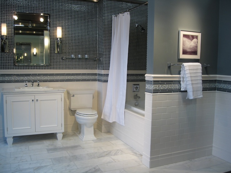 Marble Floor Bathroom Modern White With