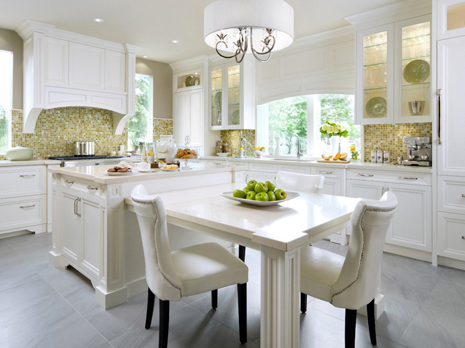 White Kitchen Yellow Backsplash yellow mosaic kitchen backsplash design ideas