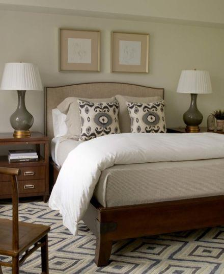 Gray Gourd Lamp Transitional Bedroom Phoebe Howard