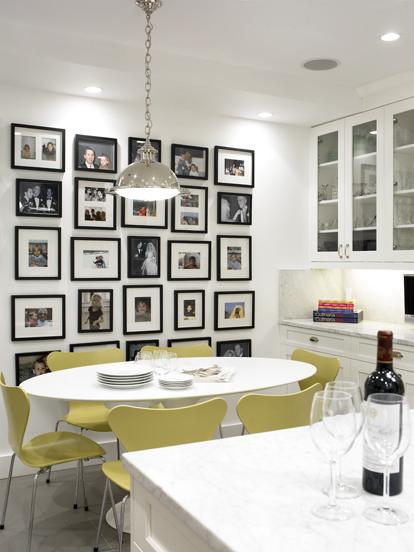 Family Photo Wall Contemporary Dining Room Cwb