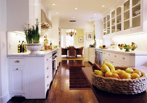 White Galley Kitchen white galley kitchen - modern - kitchen