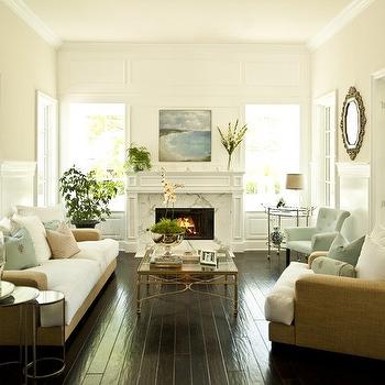 Round Nesting Tables, Cottage, living room, Alexandra Rae Interiors
