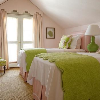 Pink and Green Girl's Bedding, Traditional, girl's room, Phoebe Howard