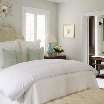 Cream Tufted Bench, Transitional, bedroom, Phoebe Howard