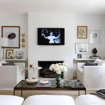 Sofas Facing Each Other, Contemporary, living room, Lindsey Meadows
