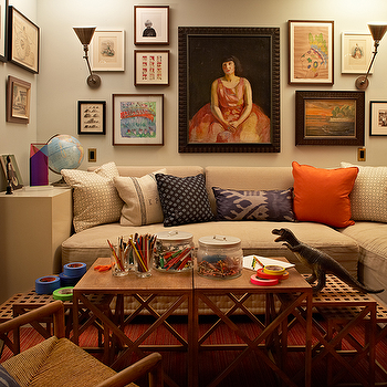Nesting Coffee Table, Eclectic, basement, Kristen Panitch Interiors