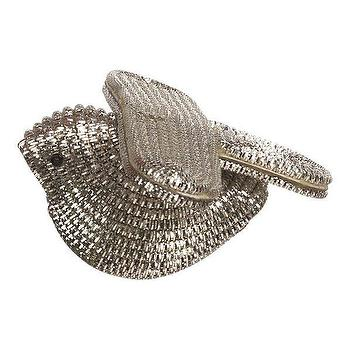 Tinsel Silver Bird Ornament, Crate&Barrel