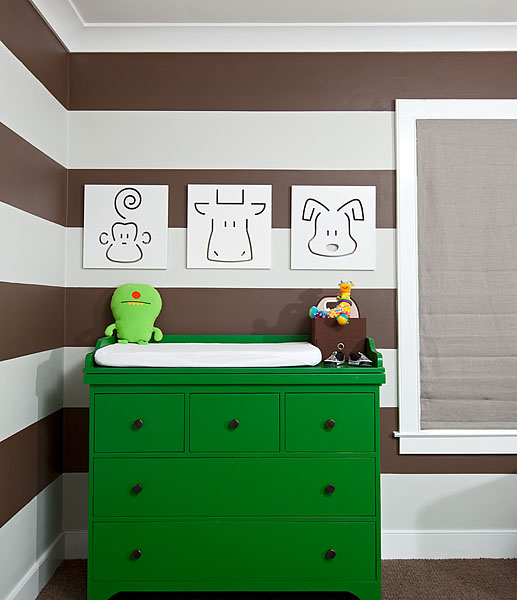 Green Changing Table Contemporary Nursery Melanie