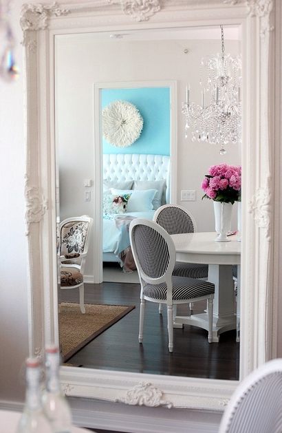 Baroque Floor Mirror - Contemporary - dining room - The Cross Decor ...