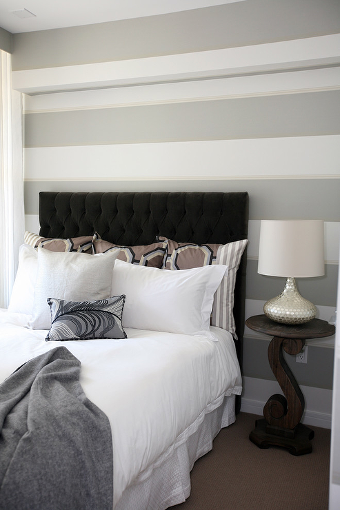 Gray Tufted Headboard Design Ideas