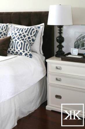 Brown Velvet Headboard, Contemporary, bedroom, Kerrisdale Design