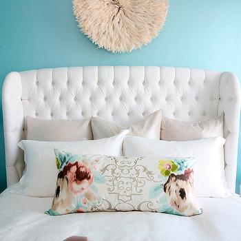 Velvet Tufted Headboard, Contemporary, bedroom, The Cross Decor & Design