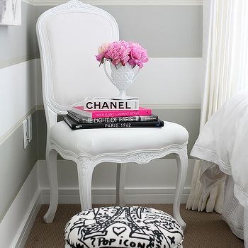 Black And White Striped French Chair Design Ideas