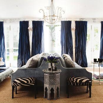 Zebra Ottoman, French, living room, Windsor Smith Home