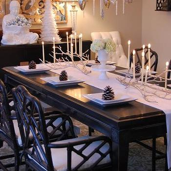 Silver Manzanita Candelabra Asian Dining Room