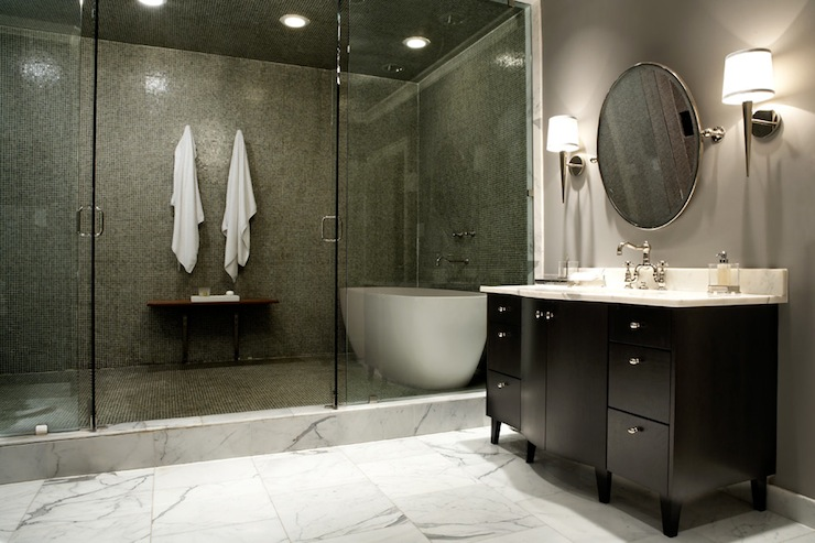 Bathtub in Shower - Contemporary - bathroom - Nest Interior Design