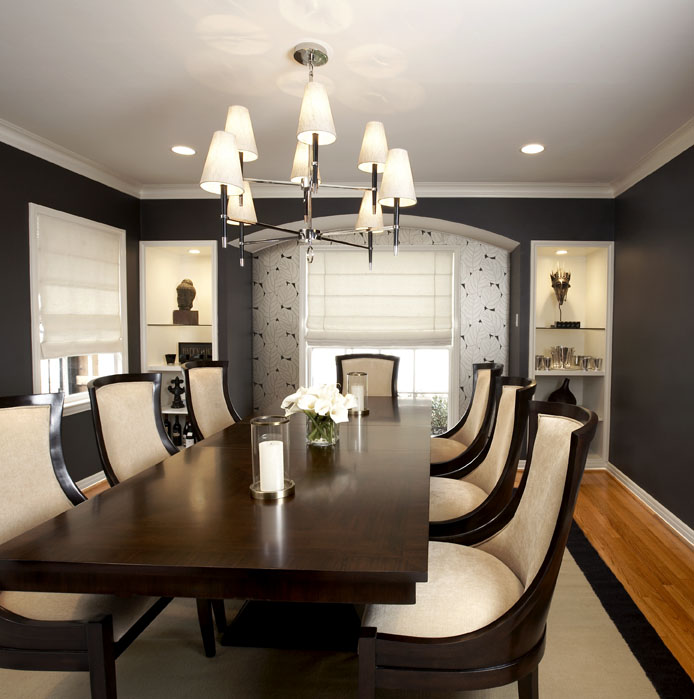 elegant dining room dark - photo #43