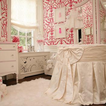 Round Crib Nursery, Traditional, nursery, Patricia Halpin Interiors