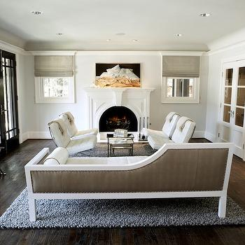 Taupe Chaise Lounge, Contemporary, living room, Nest Interior Design