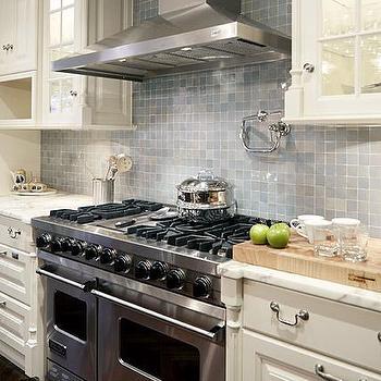 Gray Kitchen Cabinets With Cream Countertops Design Ideas