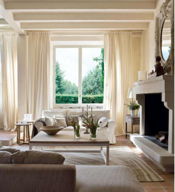 Ivory Curtains Transitional Living Room Helen Green